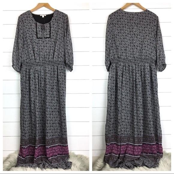 938cde8df41 Dress Barn Dresses   Nwt Floral Boho Sleeve Maxi Dress Westport 1962 ...